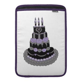 Gothic Purple Birthday Cake MacBook Air Sleeve