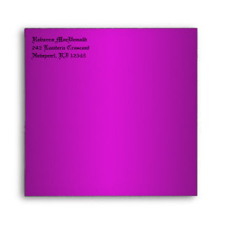 "Gothic Purple, Black Envelope for 5.25"" Sq. Size"