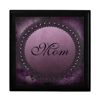 Gothic Purple Bows & Cobwebs Mom Jewelry Box