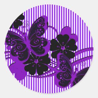 Gothic Purple Butterflies wedding seal