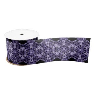Gothic Purple Fractal Pattern Satin Ribbon