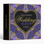 Gothic Purple Gold Lace Wedding Album Binder