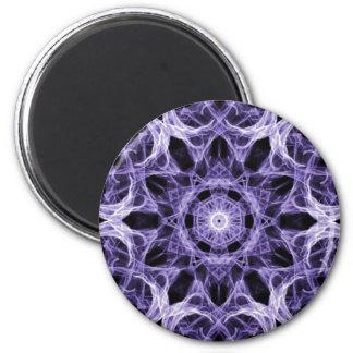 Gothic Purple Lace Fractal Magnet