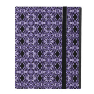 Gothic Purple Lace Fractal Pattern iPad Case