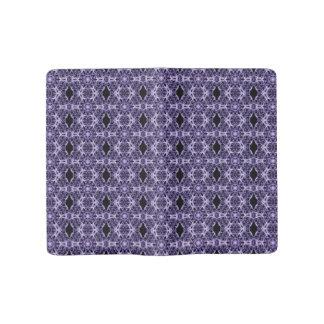 Gothic Purple Lace Fractal Pattern Large Moleskine Notebook