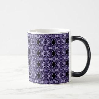 Gothic Purple Lace Fractal Pattern Magic Mug