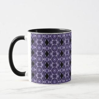 Gothic Purple Lace Fractal Pattern Mug