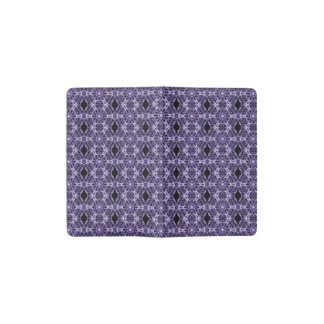 Gothic Purple Lace Fractal Pattern Pocket Moleskine Notebook