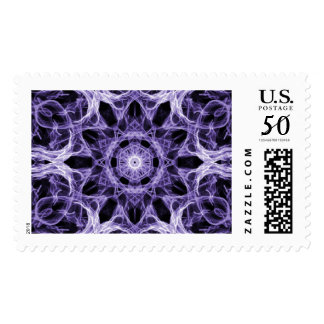 Gothic Purple Lacy Fractal Postage