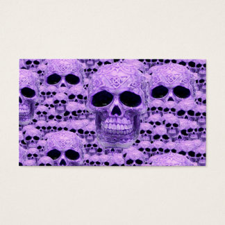 Gothic Purple Skulls Business Card