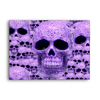 Gothic Purple Skulls Envelope