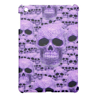 Gothic Purple Skulls iPad Mini Case