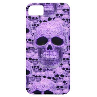 Gothic Purple Skulls iPhone SE/5/5s Case