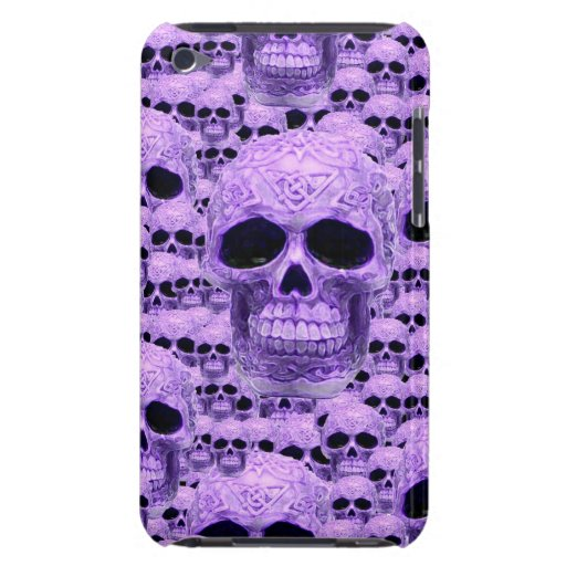 Gothic Purple Skulls iPod Touch Cases