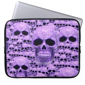 Gothic Purple Skulls Laptop Sleeve