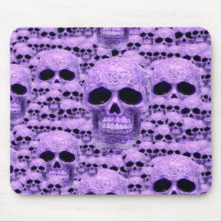Gothic Purple Skulls Mouse Pad