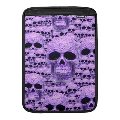 Gothic Purple Skulls Sleeve For MacBook Air