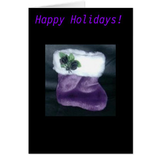 Gothic Purple Stocking Card