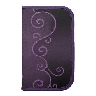 Gothic Purple Vintage Swirls Folio Planner rickshaw_folio