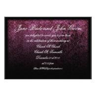 Gothic Purple Wedding, invitation