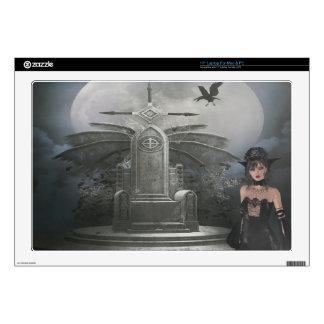 Gothic Queen, Throne, Crow & Moon Laptop Skin