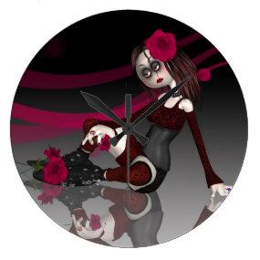 Gothic Rag Doll Clock
