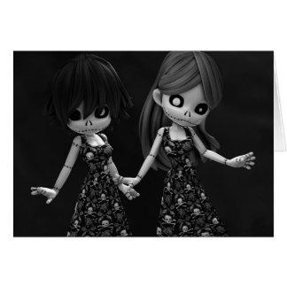 Gothic Rag Dolls BW Card