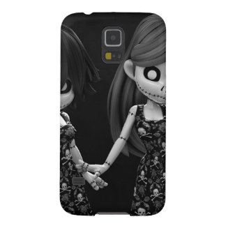 Gothic Rag Dolls BW Galaxy S5 Cover