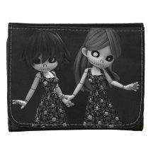 Gothic Rag Dolls BW Leather Wallets