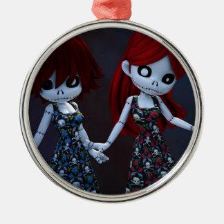 Gothic Rag Dolls Christmas Tree Ornament