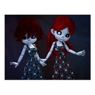 Gothic Rag Dolls Postcard