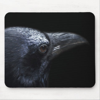 Gothic Raven and Crow Familiar Mouse Pad