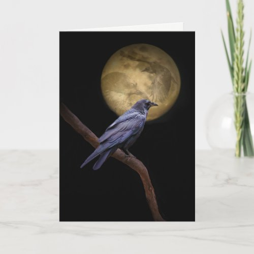 Gothic Raven Halloween Card
