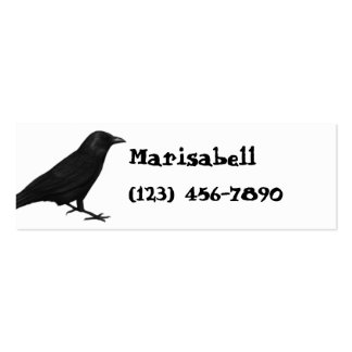 Gothic Raven Skinny Profile Card Business Card Template