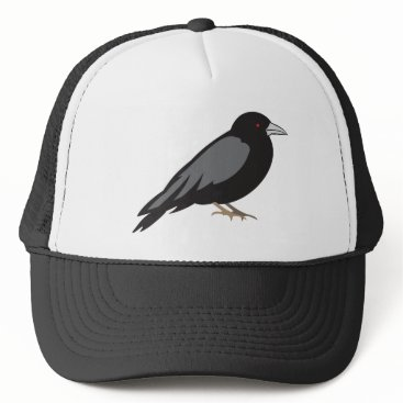Halloween Themed Gothic Raven with Red Eyes Trucker Hat