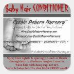 GOTHIC REBORN NURSERY BABY HAIR CONDITIONER LABEL STICKERS