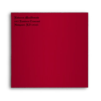 """Gothic Red and Black Envelope for 5.25"""" Sq. Size"""