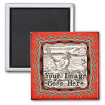 Gothic Red Fantasy Frame Template Magnet
