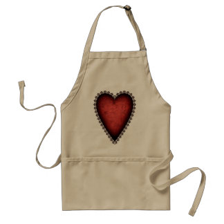Gothic Red Heart Adult Apron