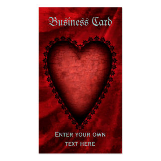 Gothic Red Heart Business Card