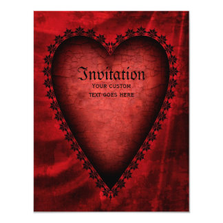 Gothic Red Heart Card