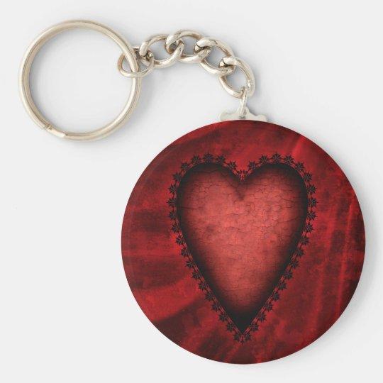 Gothic Red Heart Keychain