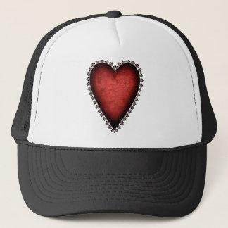 Gothic Red Heart Trucker Hat