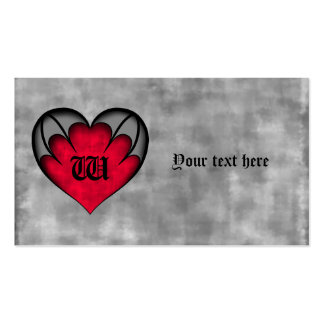 Gothic red heart Valentine's day Business Card