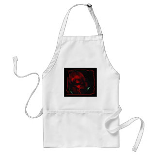 Gothic Red Rose-Bittersweet Adult Apron
