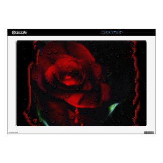 Gothic Red Rose-Bittersweet Laptop Decals