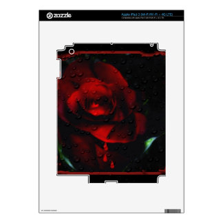 Gothic Red Rose-Bittersweet Skin For iPad 3