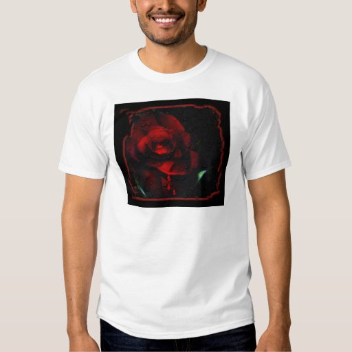 Gothic Red Rose-Bittersweet T-Shirt