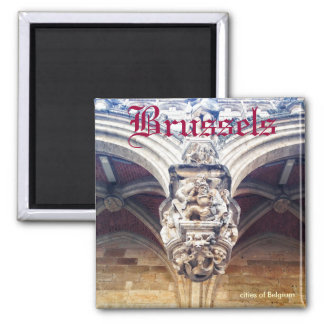 gothic relief on Grand Place, Brussels, Belgium Fridge Magnet