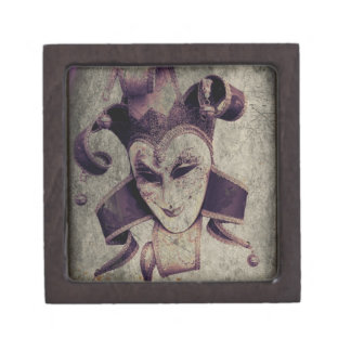 Gothic Renaissance Evil Clown Joker Keepsake Box